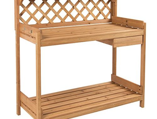 Best Choice Products Potting Bench Outdoor Garden Work Bench...