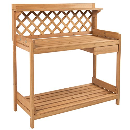 Best Choice Products Potting Bench Outdoor Garden Work Bench…
