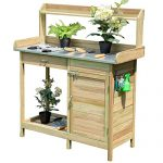 Giantex Potting Bench Table for Outside Natural Wood Garden …