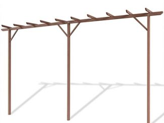 vidaXL Garden Pergola WPC Brown Outdoor Patio Structure Arbo...