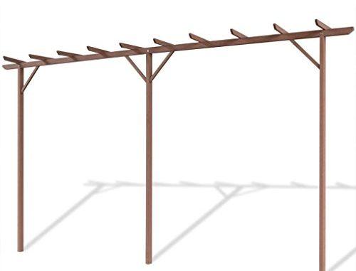 vidaXL Garden Pergola WPC Brown Outdoor Patio Structure Arbo...