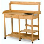 Yaheetech Potting Bench Outdoor Garden Work Bench Station Pl…